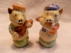 VINTAGE SMALL MUSICIANS PIGS SALT  PEPPER SHAKERS