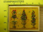 Rubber Stamp Holiday Topiaries Doves All Night Media Stampinsisters 1026