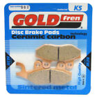 Front Disc Brake Pads for Hyosung GV 125 Aquila 2001 125cc  By GOLDfren
