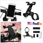 Black Aluminum Motorcycle Scooters Handlebar Cellphone Mount Bracket For iPhone