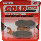 Rear Disc Brake Pads for Gilera GP800 2010 800cc By GOLDfren
