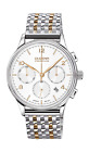 Dugena Men's Premium Quartz Watch with Dial Chronograph Display and Silver Stain