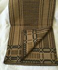 Primitive Style Woven Runner Black Mustard Tan Farmhouse 16