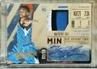 KARL-ANTHONY TOWNS 2015-16 PANINI ABSOLUTE LOGO PATCH AUTO ROOKIE # 25 AUTOGRAPH