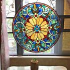 Tiffany Style Handcrafted Stained Glass Window Panel 22