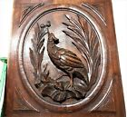 Architectural bird hunting panel Antique french carved wood salvaged paneling