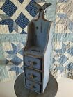 Primitive Whale Tail Apothecary Spice Cabinet*Early Inspired Milk Paint*