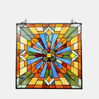 Stained Glass Tiffany Style Window Panel Arts  Crafts Mission Design 24 x 24