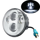 """5.75"""" 5 3/4 Round Projector LED Headlight Fit Harly Dyna Softail V-rod Sportster"""