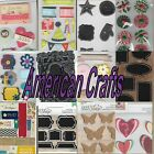 American Crafts Pebbles Inc Stickers Labels Flowers Embellishments Scrapbooking