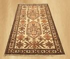 Authentic Hand Knotted Vintage Afghan Zakani Balouch Wool Area Rug 5 x 3 FT