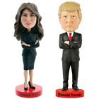 NEW Set US President Donald And American First Lady Melania Trump Bobbleheads