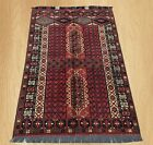 Highest Quality Hand Knotted Afghan Karghai Parda Wool Area Rug 5 x 3 FT (5681)