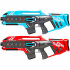 BCP Set of 2 Kids Infrared Blaster Laser Tag Toy Guns w Life Tracker Red Blue