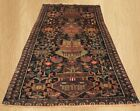 Authentic Hand Knotted Afghan Balouch Pictorial Wool Area Rug 6 x 3 FT (5065)