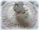 Doily 15 Lace Doily Pink Princess Lace Flower Floral Rose Sheer