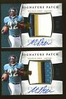 Lot of (2) 2006 UD Exquisite Maurice Drew RPA RC Rookie 4-Color Patch AUTO 99
