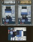 Lot of (3) 2006 UD Exquisite Vince Young RPA RC Rookie 3-Color Patch AUTO w BGS
