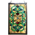 Window Panel Victorian Design Tiffany Style Stained Glass LAST ONE THIS PRICE