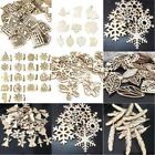 50pcs set Christmas Wood Chip Tree Ornaments Xmas Hanging Pendant Crafts Decor
