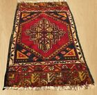Authentic Hand Knotted Vintage Turkish Wool Area Rug 3 x 2 FT (4780)