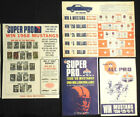 1966 & 1967 AMOCO American Oil U PICK SuperPro NFL saver sheets Starr Unitas
