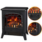 1850W Log Burning Flame Effect Stove Electric Fireplace Fire Heater Freestanding
