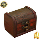 Jewelry Box Antique Wooden Embossed Flower Pattern Classical Style