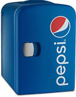 Pepsi GMF660 Portable 6 Can Mini Fridge Cooler and Warmer for Home, Office, Car
