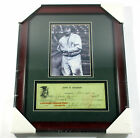 Honus Wagner 5x7 Photo with Repligraph Check Matted Framed Sealed