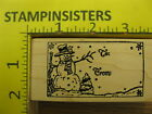 Rubber Stamp Snowman To From Gift Tag by Northwoods Stampinsisters 1382