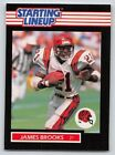 1989  JAMES BROOKS - Kenner Starting Lineup Card - CINCINNATI BENGALS