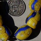 8 old antique venetian oval millefiori african trade beads 4730