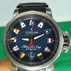Corum Admirals Cup Trophy Watch Automatic SS Stainless Steel 100M BLUE DIAL BAND