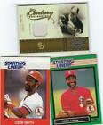2004 THROWBACK THREADS JERSEY OZZIE SMITH #61/250 + 1988 1989 STARTING LINEUP  M