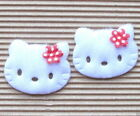 15 45pc x 1 5 8 Large Padded Appliques w Flower Bow for Hello Kitty ST519R