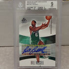 BGS 9 2004-05 UD SP Game Used Edition SIGnificance Bill Russell Auto #043 100