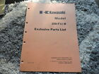 Kawasaki F11 250 B Factory Exclusive Parts List Manual 1975 99997-639-50