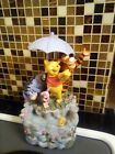 Rare Disneys Winnie The Pooh and friends musical Water Fountain with umbrella