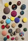 Antique Vintage Lot of Fabric Covered Different Size Buttons