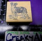 DOG CUTE ANIMAL RUBBER STAMP PAD CO RETIRED REALISTIC