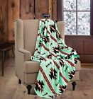 60 x 80 Blanket Twin Size Native Mint Green Super Soft Cashmere Throw DCB662