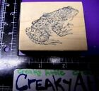 PSX SPOTTED FROG RUBBER STAMP RETIRED D 2041