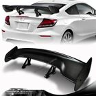 57 Real Carbon Fiber Adjustable Rear Trunk Gt Style Spoiler Wing Universal 6