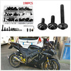 198 Pcs Aluminum Motorcycle Bikes Fairing Spring Screws Bolts Nuts Fastener Kit