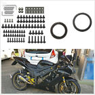 137 Pcs Motorcycle ATV Fairing Body Bolts Kit M6 Fastener Clips Screw Nuts Black