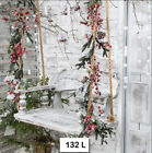 132 TWO Individual Paper Luncheon Decoupage Napkins CHRISTMAS SWING PORCH