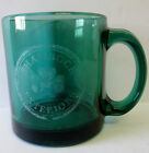 VINTAGE ADVERTISING SHAMROCK EXTERIORS GREEN GLASS  COFFEE CUP/MUG MADE IN U.S.A