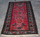 ANTIQUE QUALITY DARK PINK PERSIAN ORIENTAL RUG HAND MADE 6' 3