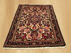 VGDY Antique Hand Knotted Hamadan Wool Area Rug 3 x 2 (4805)